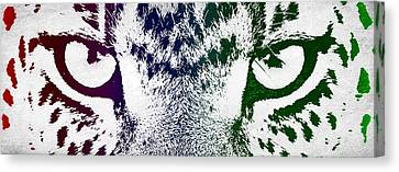 Cheetah Eyes Canvas Print by Aged Pixel