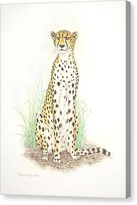 Cheetah On Lookout Canvas Print by Dag Sla