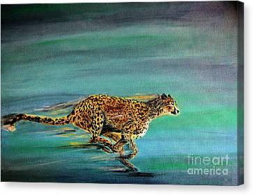 Cheetah Run Canvas Print by Nick Gustafson