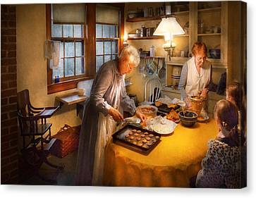 Chef - Kitchen - Coming Home For The Holidays Canvas Print by Mike Savad