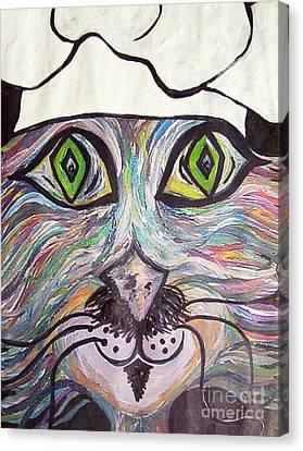 Chef Pierre ... A Cat With Good Taste Canvas Print by Eloise Schneider