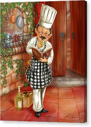 Chefs With Wine II Canvas Print by Shari Warren