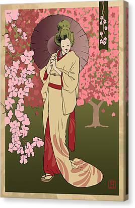 Cherry Blossom Canvas Print by H James Hoff
