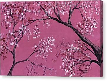 Cherry Blossoms  Canvas Print by Darice Machel McGuire