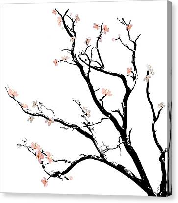 Cherry Blossoms Tree Canvas Print by Gina Dsgn