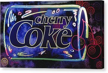 Cherry Coke 8 Canvas Print by John Keaton