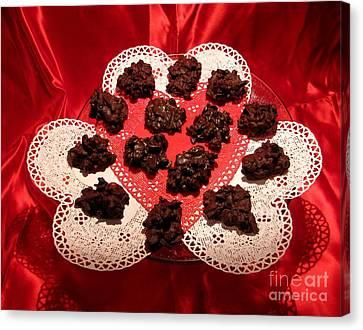 Cherry Pecan Chocolates Canvas Print by Judyann Matthews