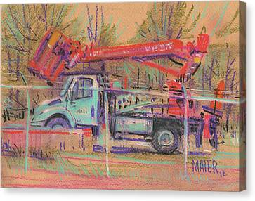 Cherry Picker Canvas Print by Donald Maier