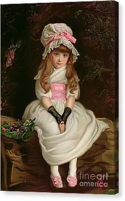 Cherry Ripe Canvas Print by Sir John Everett Millais