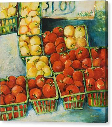 Cherry Tomatoes Canvas Print by Jen Norton