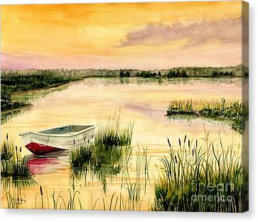 Chesapeake Marsh Canvas Print by Melly Terpening