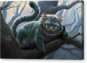 Cheshire Cat Canvas Print by Movie Poster Prints