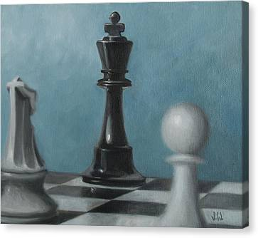 Chess Pieces Canvas Print by Joe Winkler