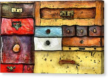 Chest Of Drawers Canvas Print by Michal Boubin
