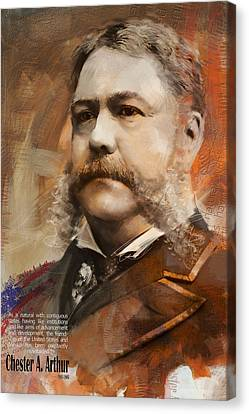 Chester A. Arthur Canvas Print by Corporate Art Task Force
