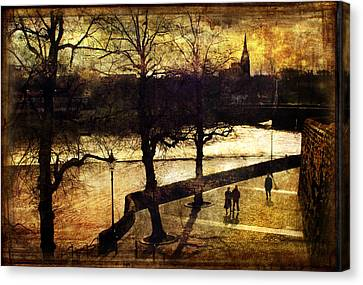 Chester Riverwalk Canvas Print by Mal Bray