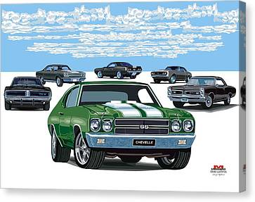 Chevelle 2 Canvas Print by DARRYL McPHERSON