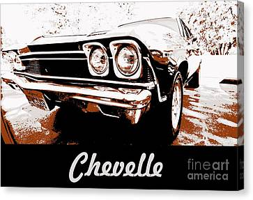Chevelle Pop Art Canvas Print by Cheryl Young