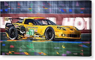 Chevrolet Corvette C6r Gte Pro Le Mans 24 2012 Canvas Print by Yuriy  Shevchuk