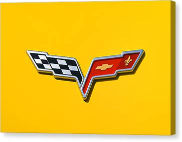 Chevrolet Corvette Flags Canvas Print by Phil 'motography' Clark