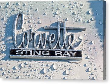 1966 Chevrolet Corvette Sting Ray Emblem -0052c Canvas Print by Jill Reger