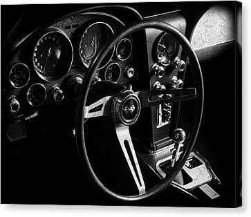 Chevrolet Corvette Sting Ray Interior Canvas Print by Mark Rogan