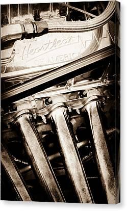 Chevrolet Engine - Heartbeat Of America Canvas Print by Jill Reger
