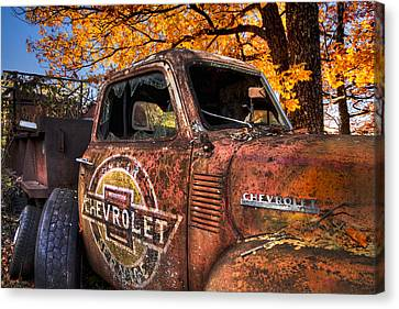 Chevrolet Usa Canvas Print by Debra and Dave Vanderlaan