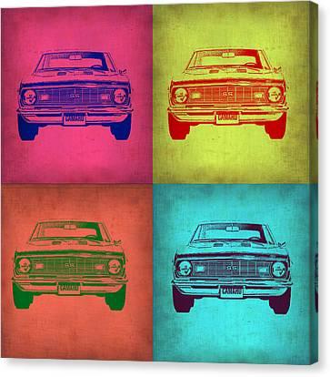 Chevy Camaro Pop Art 1 Canvas Print by Naxart Studio