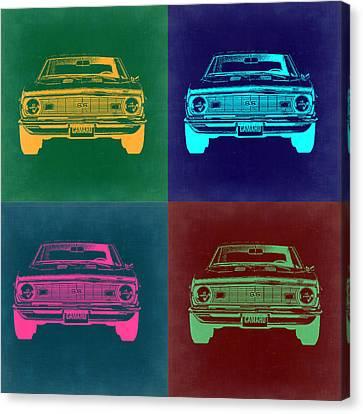 Chevy Camaro Pop Art 2 Canvas Print by Naxart Studio