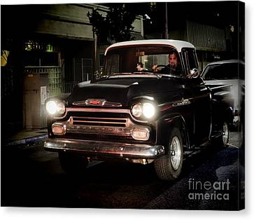 Chevy Pickup Truck Canvas Print by Nina Prommer