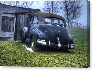 Chevy Runs Deep Canvas Print by David Simons