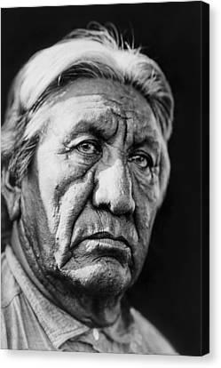 Cheyenne Indian Man Circa 1927 Canvas Print by Aged Pixel