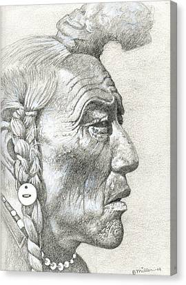 Cheyenne Medicine Man Canvas Print by Bern Miller