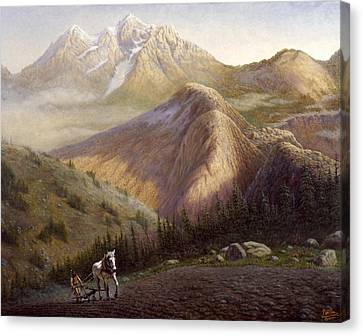 Cheyenne Valley Wyoming Canvas Print by Gregory Perillo