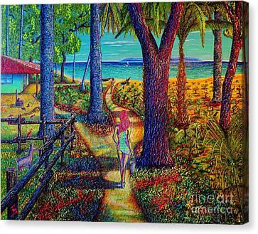 Chez Les Amazons Canvas Print by Viktor Lazarev