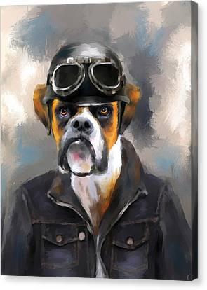 Chic Boxer Aviator Canvas Print by Jai Johnson