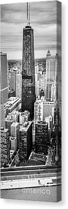 Chicago Aerial Vertical Panoramic Picture Canvas Print by Paul Velgos
