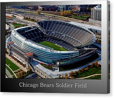 Chicago Bears Soldier Field Canvas Print by Thomas Woolworth