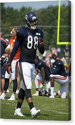 Chicago Bears Te Dante Rosario Training Camp 2014 02 Canvas Print by Thomas Woolworth
