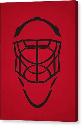 Chicago Blackhawks Goalie Mask Canvas Print by Joe Hamilton