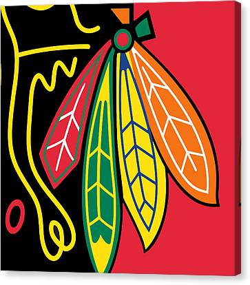 Chicago Blackhawks Canvas Print by Tony Rubino