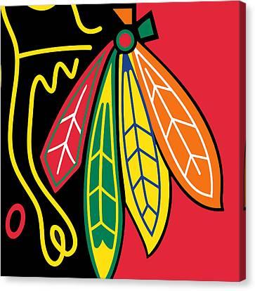 Chicago Blackhawks Canvas Print by Tony Rubino