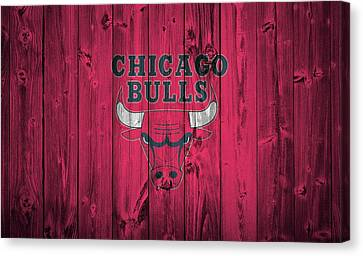 Chicago Bulls Barn Door Canvas Print by Dan Sproul
