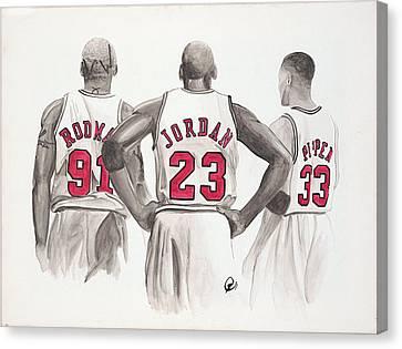 Chicago Bulls Canvas Print by Megan Padilla