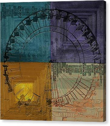 Chicago City Collage 3 Alternative Canvas Print by Corporate Art Task Force
