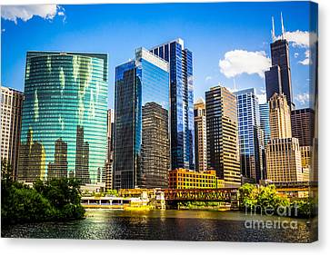 Chicago City Skyline Canvas Print by Paul Velgos
