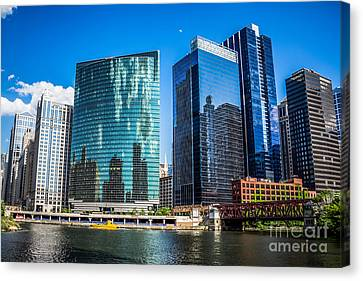Chicago Cityscape Downtown City Buildings Canvas Print by Paul Velgos