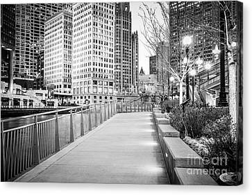 Chicago Downtown City Riverwalk Canvas Print by Paul Velgos