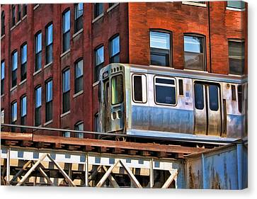 Chicago El And Warehouse Canvas Print by Christopher Arndt